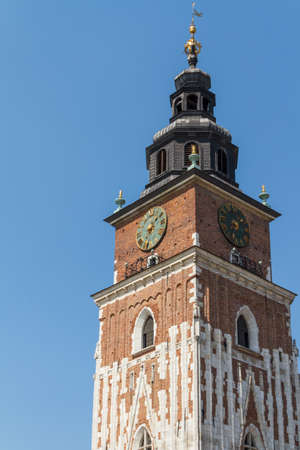 Town hall tower on main square of Krakow Stock Photo - 16607995
