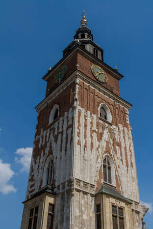 Town hall tower on main square of Krakow Stock Photo - 16603681