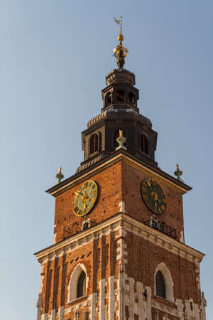 Town hall tower on main square of Krakow Stock Photo - 16605053