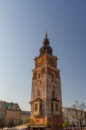 Town hall tower on main square of Krakow Stock Photo - 16604896