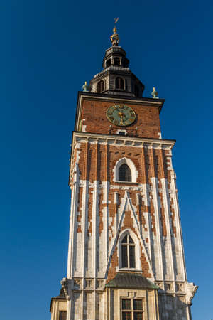 Town hall tower on main square of Krakow Stock Photo - 16604971
