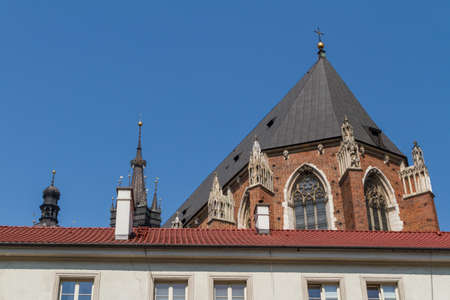 rynek: Buildings on small square in old town of Krakow