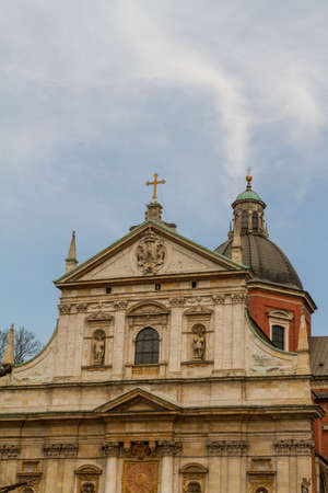 polska monument: Church of Saints Peter and Paul in the Old Town district of Krakow, Poland Stock Photo