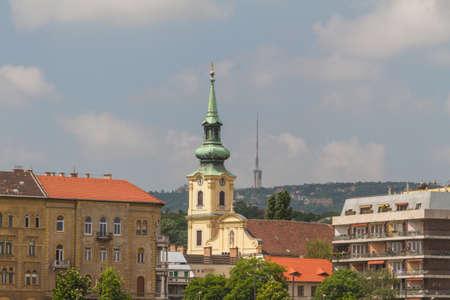 obuda: view of landmarks in Budapest Editorial