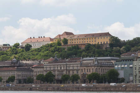 obuda: typical buildings 19th-century in Buda Castle district of Budapest