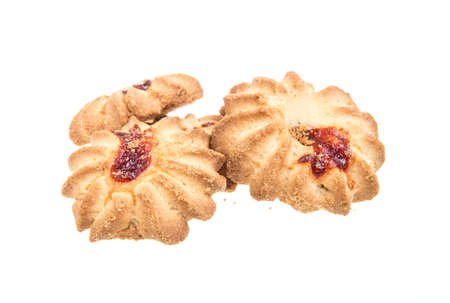 sweet cookies isolated on a white background Stock Photo - 16613203
