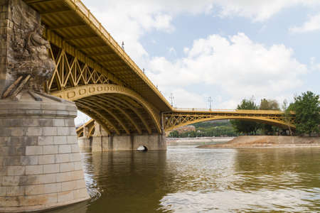 Scenic view of the recently renewed Margit bridge in Budapest. Stock Photo - 16613583