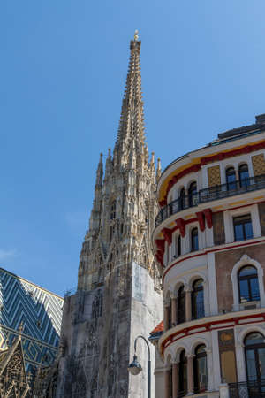 stephansplatz: St. Stephan cathedral in center of Vienna, Austria Stock Photo
