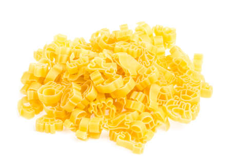 Raw yellow Italian pasta photo