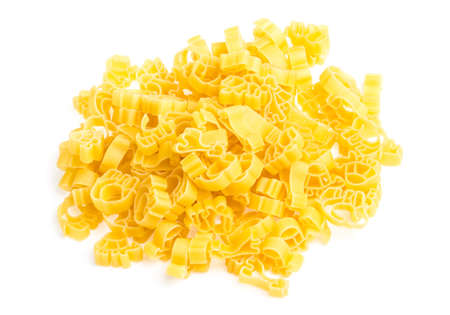 rotini: Raw yellow Italian pasta