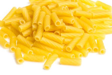 macro closeup of penne pasta background texture Stock Photo - 16622030