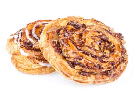 bun: sweet bun isolated on white