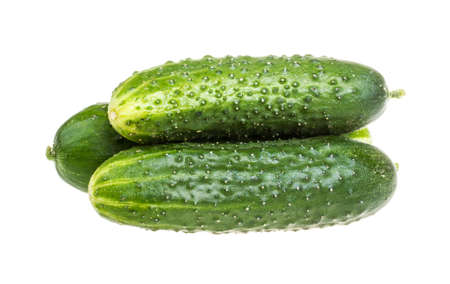 Healthy food. The green cucumbers isolated on white background Stock Photo - 16621867