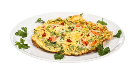 scrambled eggs: fresca Huevos revueltos con gambas