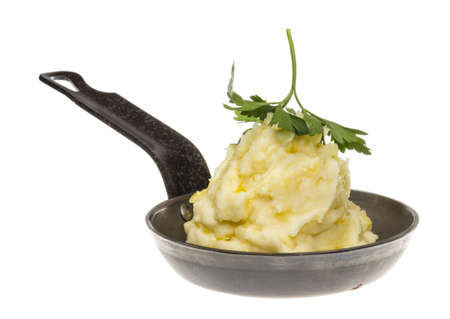 mashed potatoes in roasted pan Stock Photo - 16625494