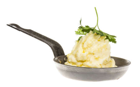 mashed potatoes in roasted pan photo