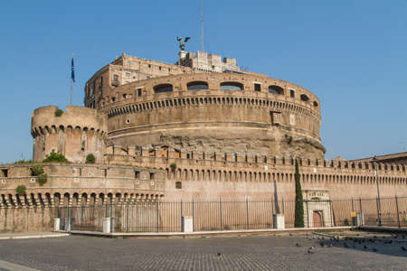 The Mausoleum of Hadrian, known as the Castel Sant'Angelo in Rome, Italy.
