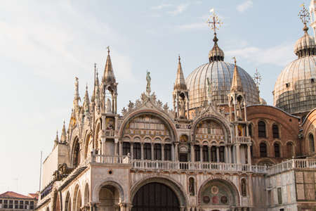 saint mark's: Saint Marks Basilica, Cathedral, Church Statues Mosaics Details Doges Palace Venice Italy