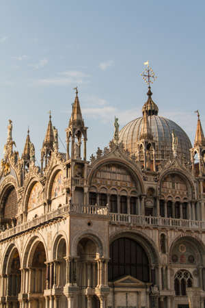 doges: Saint Marks Basilica, Cathedral, Church Statues Mosaics Details Doges Palace Venice Italy