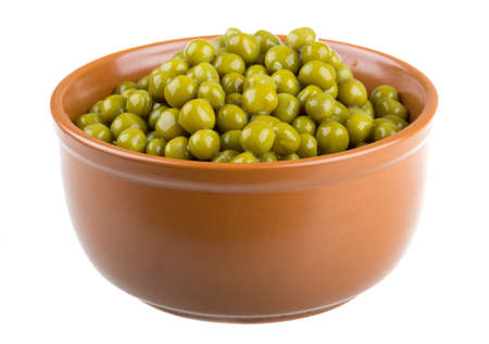 green peas, in a bowl, isolated, white background Stock Photo - 16698090