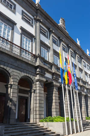 canarian: Town Hall in Las Palmas de Gran Canaria, Spain Stock Photo