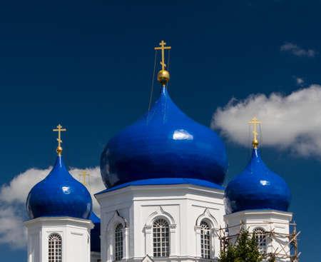 orthodoxy: orthodoxy monastery in Bogolyubovo Stock Photo