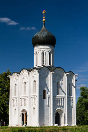 intercession: Church of the Intercession on the River Nerl Stock Photo