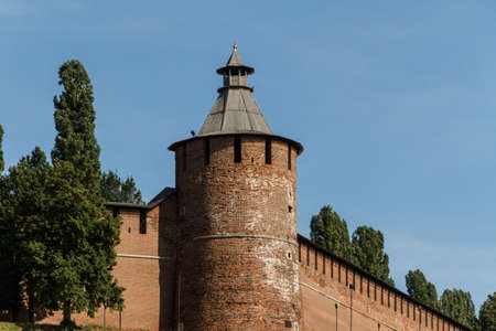 Kremlin wall at Nizhny Novgorod in summer. Russia Stock Photo - 16973197