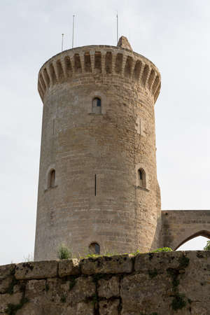 Bellver Castle Castillo tower in Majorca at Palma de Mallorca Balearic Islands Stock Photo - 16791678