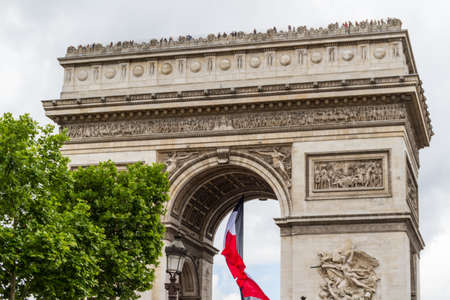 View on arch of triumph Carousel and Tuileries garden, Paris, France Stock Photo - 16804336