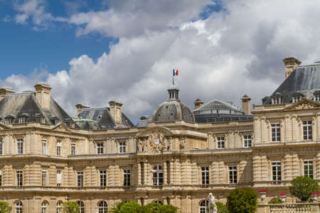 Facade of the Luxembourg Palace (Palais de Luxembourg) in Paris, France photo
