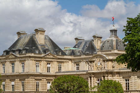 palais: Facade of the Luxembourg Palace (Palais de Luxembourg) in Paris, France