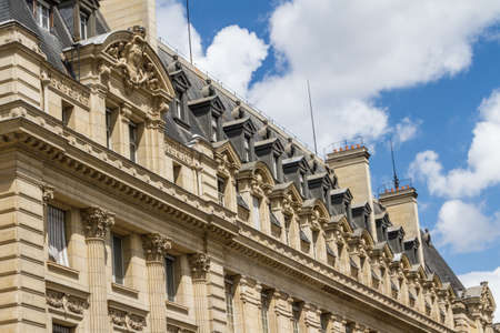 academie: The Sorbonne or University of Paris in Paris, France. Stock Photo