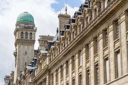 academie: The Sorbonne or University of Paris in Paris, France. Stock Photo