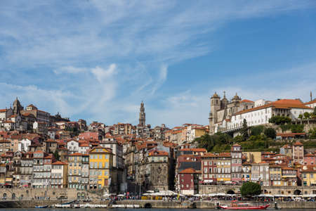 View of Porto city at the riverbank (Ribeira quarter) and wine boats(Rabelo) on River Douro(Portugal), a UNESCO World Heritage City. Stock Photo - 16792985