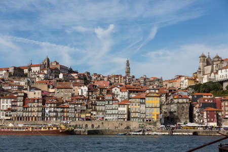 View of Porto city at the riverbank (Ribeira quarter) and wine boats(Rabelo) on River Douro(Portugal), a UNESCO World Heritage City. Stock Photo - 16806326