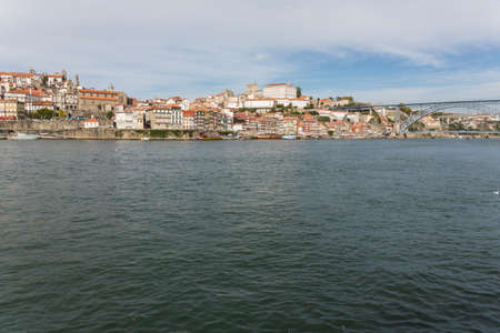 View of Porto city at the riverbank (Ribeira quarter) and wine boats(Rabelo) on River Douro(Portugal), a UNESCO World Heritage City. Stock Photo - 16793030
