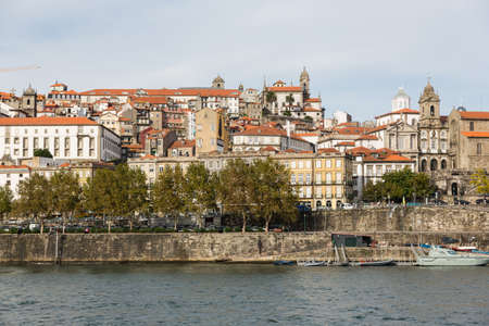 View of Porto city at the riverbank (Ribeira quarter) and wine boats(Rabelo) on River Douro(Portugal), a UNESCO World Heritage City. Stock Photo - 16807247