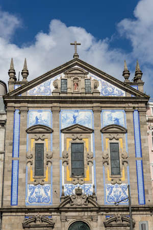 santo ildefonso baroque church in porto portugal photo
