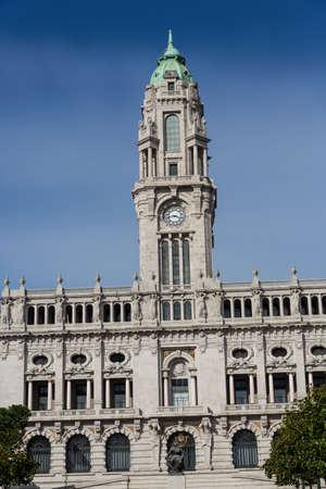 pool halls: city hall of Porto, Portugal
