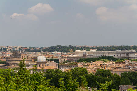 Travel Series - Italy. View above downtown of Rome, Italy. photo