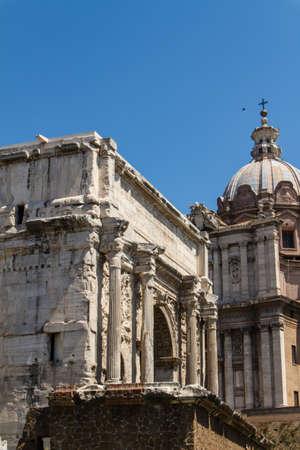 Roman ruins in Rome, Forum Stock Photo - 16789051