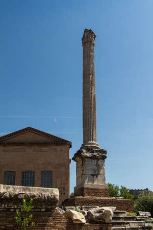 Roman ruins in Rome, Forum Stock Photo - 16786105