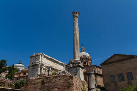 Roman ruins in Rome, Forum Stock Photo - 16792880