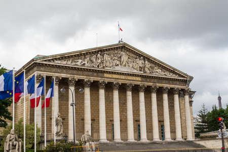 Assemblée Nationale (Palais Bourbon) - a francia parlament. Stock fotó