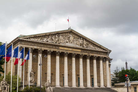 palais: Assemblee Nationale (Palais Bourbon) - the French Parliament. Stock Photo