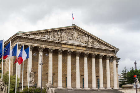 nationale: Assemblee Nationale (Palais Bourbon) - the French Parliament. Editorial