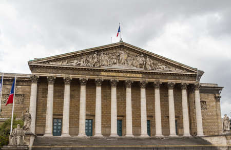 nationale: Assemblee Nationale (Palais Bourbon) - the French Parliament. Stock Photo