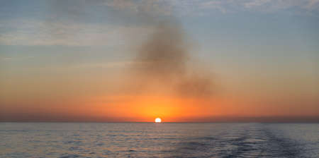 Sunset over the ocean Stock Photo - 16809325