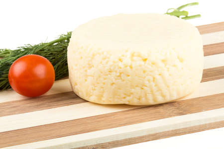 cheese isolated on white background photo